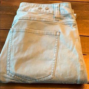 Sz 8 Cabi teal blue skinny pants